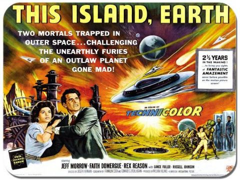 This Island Earth Vintage Film Poster Mouse Mat. Sci Fi Movie Quality Mouse Pad